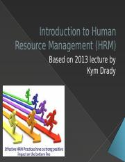 UGB118 Week 10 First lecture on HRM 2014.pptx