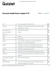 EXAM 2 Personal Health Exam chapter 9-12 Flashcards.pdf
