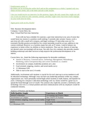 5 pages employment packet sample with feedback