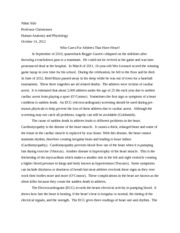 Reflective essay on death