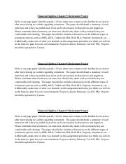 Financial Algebra Chapter 9 Retirement Extra Credit Project.docx