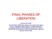 FINAL PHASES OF LIBERATION