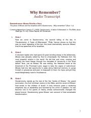 Why Remember audio transcripts
