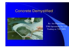 Concrete-Demystified