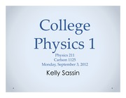 College Physics 1 Lecture 1