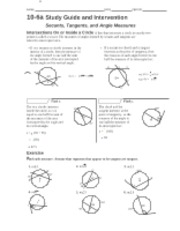10-6a - Secants Tangents & Angle - NOTES - R NAME DATE ...