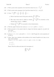 Calculus 3 Practice Exam 2