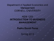 Lecture Monday 121 - Introduction to AEM1200