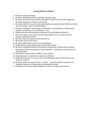 Learning Objectives Chapter 1.docx