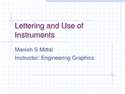 Lettering and Use of Instruments 1