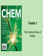 Chapter 2 The Chemical View of Matter(2)
