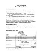 chapter 2 the balance sheet.doc