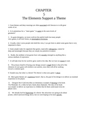 Chapter Five - The Elements Support the Theme