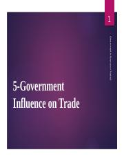 6. Government Influence on Trade