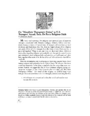 Therapuetic Deism.pdf