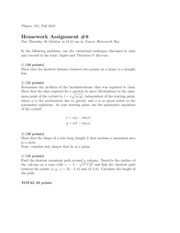 Physics 325 Homework 8