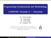 COMP104_L8_Function II_Recursion