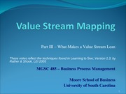 3.2 VSM Part III - What makes a value stream lean