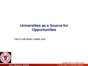 MGMT 632 University Commercialization Overview