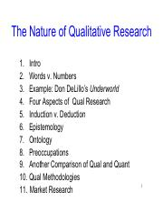 2a Nature of Qual Research