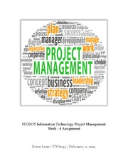 ITC6035 – Project Management – Week -4 Assignment