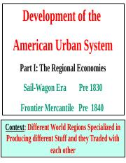 Topic 2 Frontier Mercantile Era Regional Economies Towns and Cities