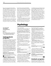 Psychology Requirements and Course Descriptions 2011 Bulletin