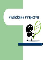 03 - Psychological Perspectives
