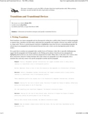 Transitions and Transitiona..