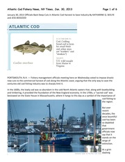 Cod Fisheries Reading
