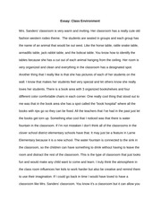 2 pages essay class environment - Portfolio Essay Example