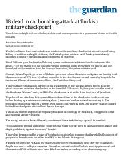 18 dead in car bombing attack at Turkish military checkpoint _ World news _ The Guardian.pdf