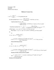 ECON 210 Fall 2009 Midterm 1 Solutions