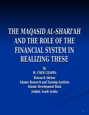 ch10 Maqasid al-Shari'ah and the Role of the Fin System