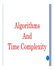5. Algorithm and Time Complexity