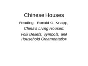 chinese living houses