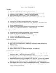 Student Centered Discipline Plan