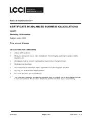 Adv Business Calculations L3 Past Paper Series 4 2011.pdf
