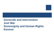Genocide and Intervention Just War Sovereignty and Human Rights Kosovo