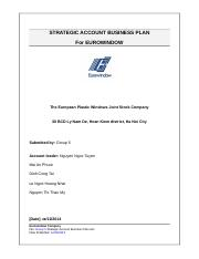 STRATEGIC ACCOUNT BUSINESS PLAN.doc
