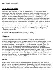 Social Learning Theory Research