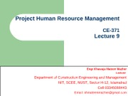 Project Human Resource Mgt (Lec-9)
