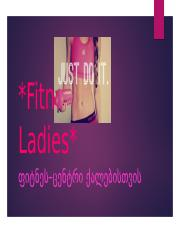 Fitness For Ladies.pptx