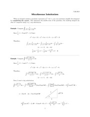miscellaneous-substitutions