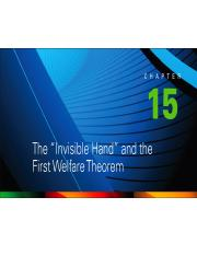 Chapter 15-The Invisible Hand and the First Welfare Theorem.pptx