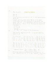 Applied Math - Identity Matrix Lecture Note