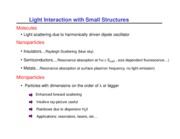 Lecture 4 - Light Interaction with Small Structures