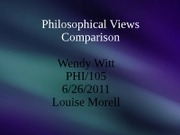 Philosophical Views Comparison
