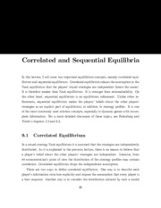 notes on sequential equilibria