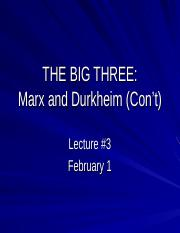 2017 Lecture 3 Durkheim and Marx.ppt